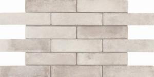 Boden- Wandfliese, Riemchen Feinsteinzeug bianco