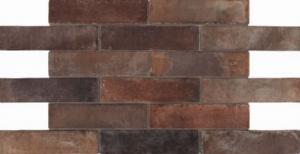 Boden- Wandfliese, Riemchen Feinsteinzeug marrone dunkelbraun-grau