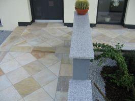 Mauerabdeckung in Granit Oriental Grey poliert