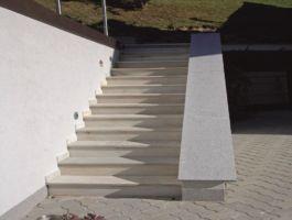 Mauerabdeckung in Granit Oriental Grey